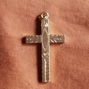 Jewelry - Victorian Gold Filled Etched Cross
